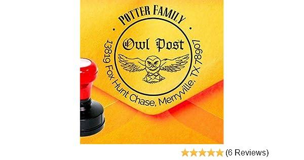 Amazon Owl Post Stamp Harry Potter Custom Address Faux Postage Hedwig Return Z34 Handmade
