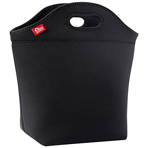 Large Black Neoprene Lunch Bag, Yookeehome 14