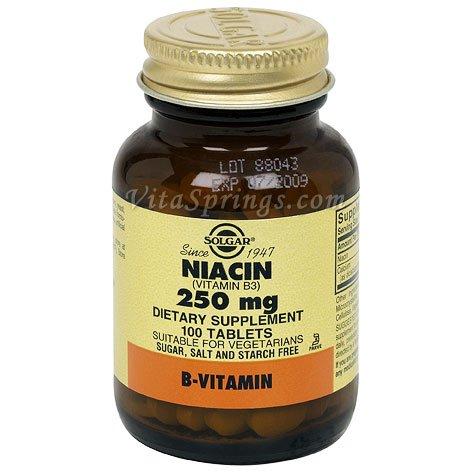 Solgar - La niacine (vitamine B3), 250 mg, 100 comprimés