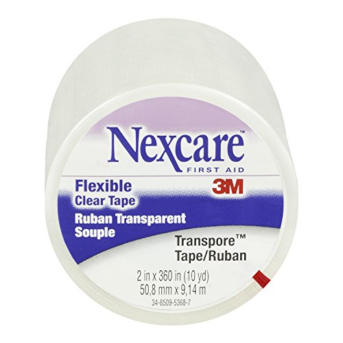 Nexcare Transpore Clear 2-Inch Wide First Aid Tape, 10-Yard Roll (Pack of 4) (Wrap Nexcare Athletic)