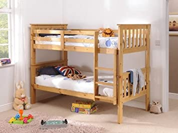 Snuggle Beds Madison Bunk Bed Antique Pine 3 Single Bunk Beds