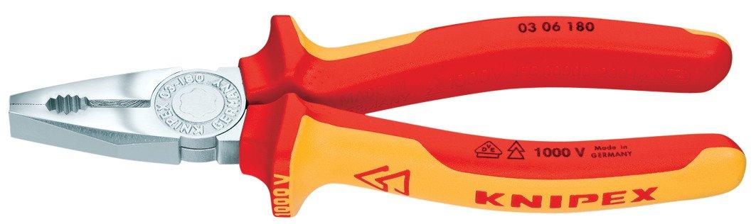 Knipex 0306180 Pince universelle 180 mm avec poign/ées VDE
