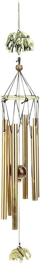 Retro Kupfer Windspiele Metall 6 Rohr rostfrei Windspiele Startseite Balkon Garten Dekoration