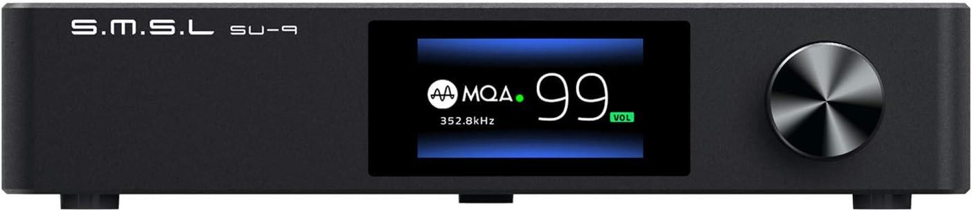 S.M.S.L SU-9 MQA Full Decoder ES9038PRO DAC XMOS DSD512 PCM768kHz/32Bit Bluetooth 5.0 UAT APTX-HD USB Balanced Decoder