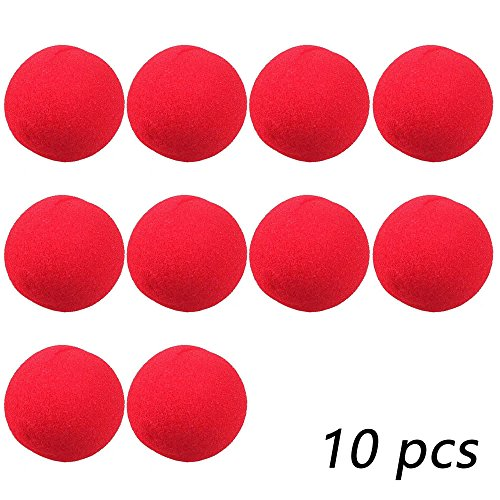 AStorePlus Cheap Foam Clown Noses, 10Pcs Red Clown Nose For Circus Halloween Costume Party (Hot Halloween Costumes Facebook)