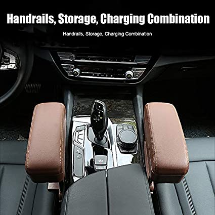 Gebuter Wireless Charging Center Console Organizer Armrest Storage Box Holder Container Car Armrest Pad Wireless charging armrest pad GM armrest adjustable height//suitable for long-term drivers.