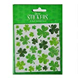 Carrolls Irish Gifts Pack of 30 Shamrock Stickers in Different Sizes with A Green Glitter Design