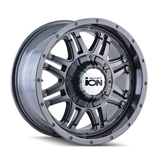 "Ion Alloy Style 186 Wheel with Gunmetal Finish (18x9""/8x165.1mm)"