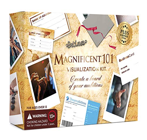 Magnificent Vision Board Kit - Create a Vision for Your Dream Life - Use The Power of Visualization to Achieve Your Dreams -
