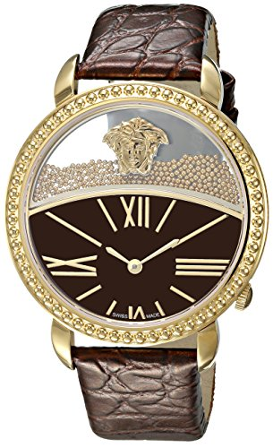 Versace-Womens-KRIOS-Swiss-Quartz-Stainless-Steel-and-Leather-Casual-Watch-ColorGold-Toned-Model-VAS050016
