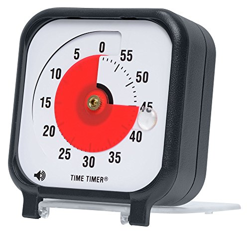 Time Timer Original 3 Inch; 60 Minute Visual Analog Timer; Optional (On/Off) Alert; Silent Operation (No Ticking); Time Management Tool for Kids, Students, Special Needs, and Adults.