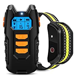 Flittor Dog Training Collar Shock Collar For Dogs With Remote Rechargeable Dog Shock Collar 3 Modes Beep Vibration And Shock Waterproof Bark Collar For Small Medium Large Dogs