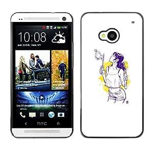 Caucho caso de Shell duro de la cubierta de accesorios de protección BY RAYDREAMMM - HTC One M7 - Burbujas Sexy
