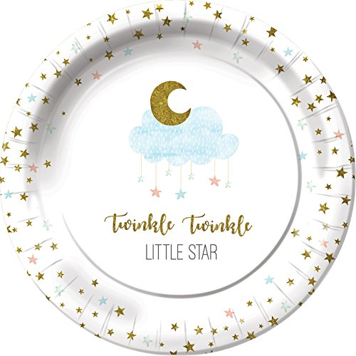 Shindigz When You Wish Upon a Star Dessert (Twinkle Twinkle Little Star Paper Plates)