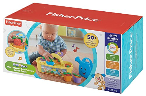 51zWPnLCK L - Fisher-Price Laugh & Learn Smart Stages Grow 'n Learn Garden Caddy (Amazon Exclusive)