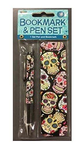 Sugar Skulls Gel Pen And Bookmark Set