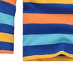 Happy Cherry Baby Kids Boy T-Shirt Tops Stripe Polo Shirt 3-4 T Yellow / Blue