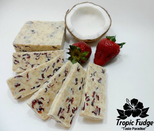 Tropic Fudge, 2 Pounds (White Chocolate Strawberry Cranberry Coconut)