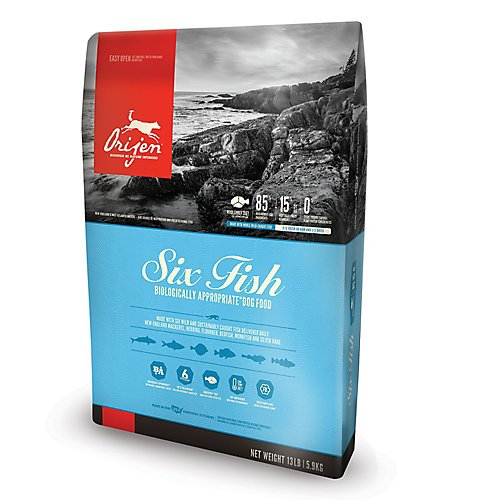 Orijen Six Fish Dog Food, 25-Pound Bag