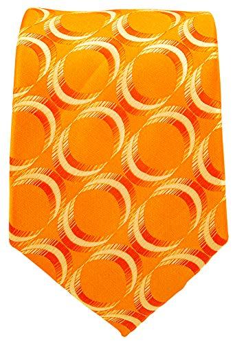- Neckties By Scott Allan - Geometric Burnt Orange Men's Tie