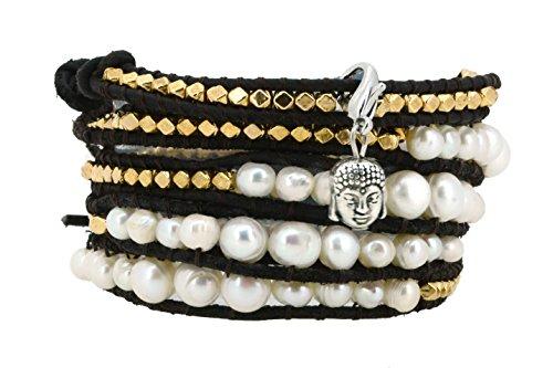 White Pearl Wrapped Bracelet - 6