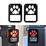 Dog Paw Light Guards Tail lamp Tail Light Cover Trim Guards Protector for 2007-2017 Jeep Wrangler JK JKU Unlimited Rubicon Sahara Sport Accessories Parts