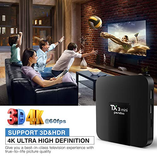 Android TV Box,Android 7.1 TV Box TX3 Mini 2GB/16GB Amlogic S905W Quad core 64 Bits WiFi Smart 4K TV Box by pendoo (Image #6)