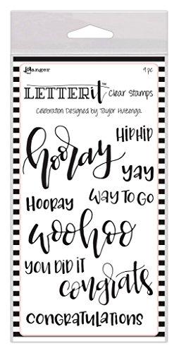 Ranger Letter It Clear Stamps, Celebration LEC59301