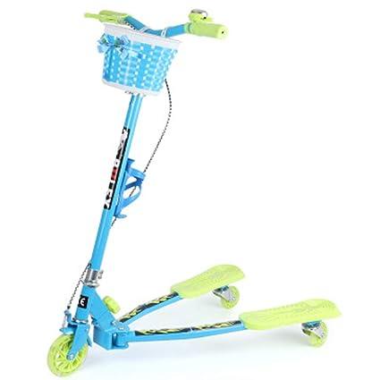 Amazon.com: Giow - Patinete infantil, tijeras de tres ruedas ...