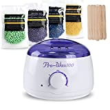 Hair Removal Waxing Kit Electric Wax Warmer Heater with Hard Wax Beans(Tea Tree, Lavender,Honey,Chamomile) and Wax Applicator Sticks Review