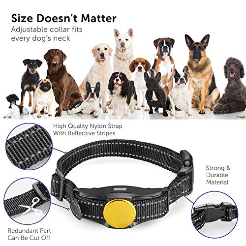 VAVA Pet Dog Training Collar – Rechargeable with 3 Training Modes, Beep, Vibration & Shock, 100% Waterproof Training Collar, up to 330 Yards Remote Range, Dog Training Set by VAVA Pet (Image #7)