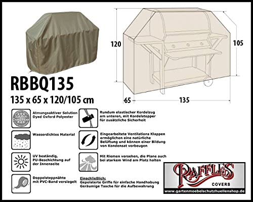 rbbq135 Carcasa para parrilla de gas, Gas barbacoa cocina, parrilla carro meteorológica funda para barbacoa, lona BBQ: Amazon.es: Jardín