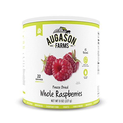 Augason Farms Freeze Dried Whole Raspberries 8 oz No. 10 Can ()