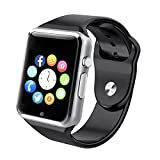 Bluetooth Smart Watch A1 - WJPILIS Touch Screen Smart Wrist Watch Smartwatch Phone with SIM Card Slot Camera Pedometer Sport Tracker for IOS iPhone Android Samsung LG for Men Women Child