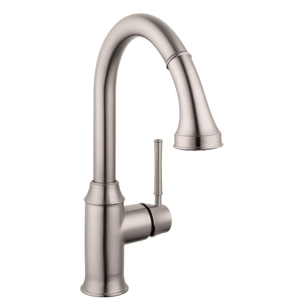 HG Talis C Higharc Single Hole Kitchen Faucet W/Pull Down 2 Spray ...