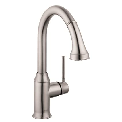 Hansgrohe 4215800 Talis C HighArc Kitchen Faucet, Steel Optik, Touch ...