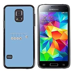 EJOY---Cubierta de la caja de protección la piel dura para el / Samsung Galaxy S5 Mini, SM-G800 / --Ti Ta venció campana