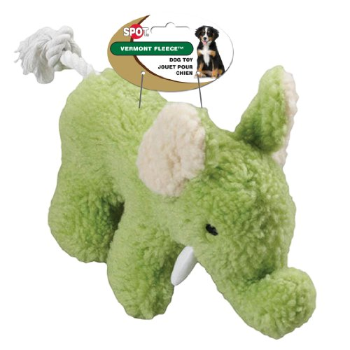 Ethical Pet Vermont Fleece Dog Toy, 10-Inch, Elephant, Assorted (Fleece Vermont)