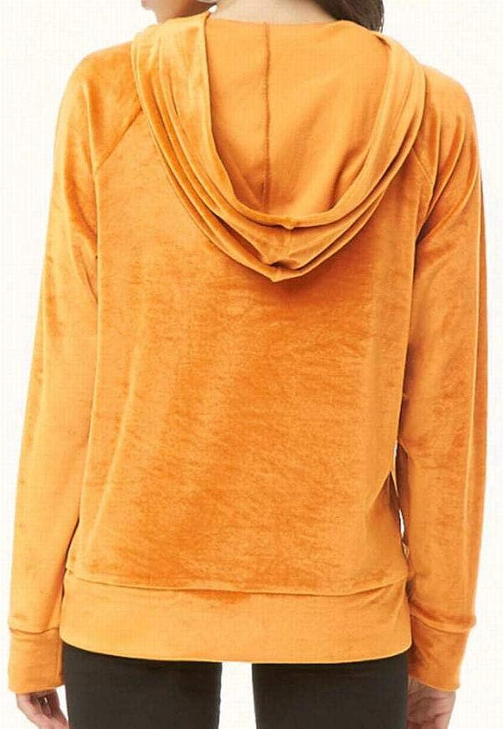 YYG Womens Long Sleeve Fashion Casual Drawstring Velvet Pullover Hooded Sweatshirt