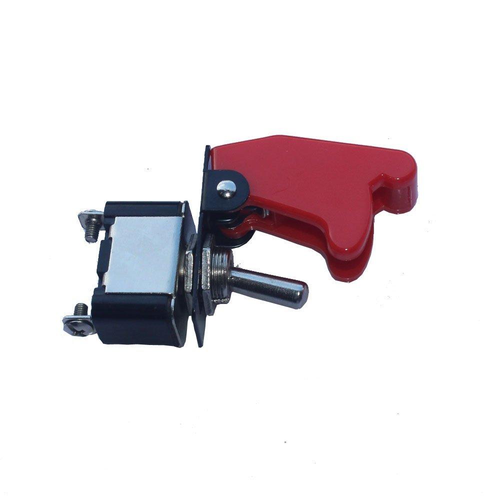 Mintice/™ 10 X 12V 20A couverture rouge interrupteur /à bascule /à bascule SPST ON OFF voiture 2 Pin