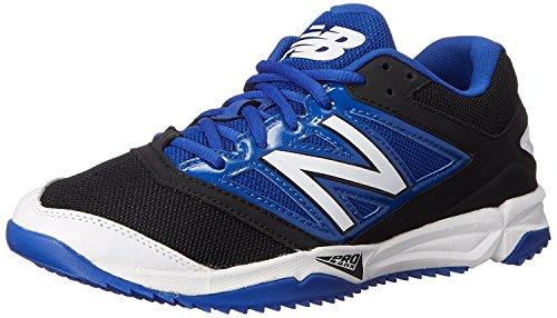 New Balance Mens T4040V3 Turf Baseball Shoe, Negro/Azul, 47 D(M) EU/12 D(M) UK