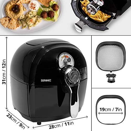 Duronic AF1 //BK Friteuse /à air chaud sans huile 1500W // robot multicuiseur pour frire r/ôtir griller sainement et sans mati/ères grasses Livre de recettes gratuit cuire