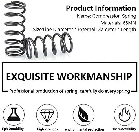 ZZB-LSTH, 5Pcs Rotor Druckfederdruck Feder Linie Durchmesser 1,2 mm, Außendurchmesser 17mm, Länge 60mm-100mm (Size : 90mm(5Pcs))