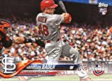 #4: 2018 Topps Opening Day #134 Harrison Bader St. Louis Cardinals Rookie Baseball Card