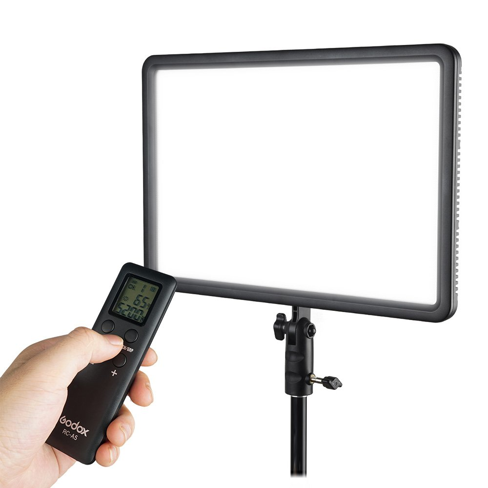 Godox LEDP260C CRI95+ TLCI94+ 30W Ultra-thin Lightweight 3300K-5600K LED Video Light Panel,Adjustable color temperature &light Brightness with RC-A5 Remote Control for DSLR Cameras,Camcorders