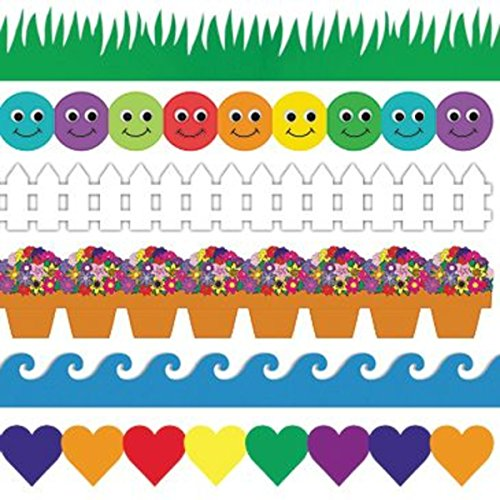 Hearts Border Trim - Grass and Waves Border Trim Assortment