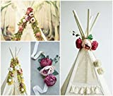 Teepee topper, floral garland, peonies garland, flower garland, boho style