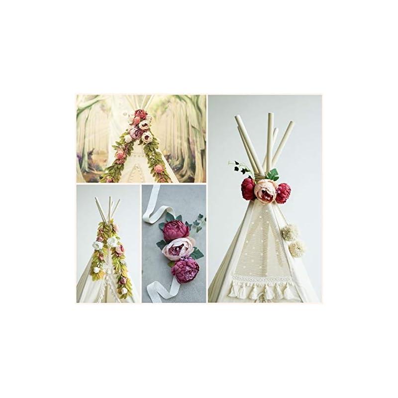 silk flower arrangements teepee topper, floral garland, peonies garland, flower garland, boho style