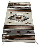 Onyx Arrow Southwest Décor Area Rug, 32 x 64 Inches, Center Diamond, Cream/Black/Multi