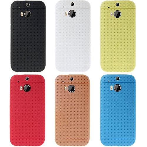 Mxnet Pure Color TPU Funda protectora para HTC One M8 Fundas ( Color : Red ) Blue